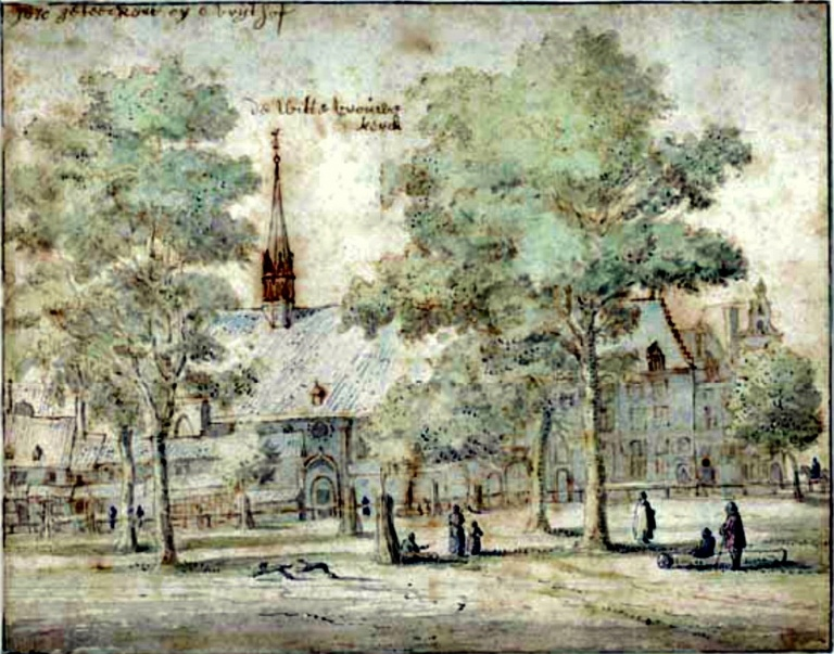 Met_Witte_Vrouwen_Kerk,_reproductie_van_tekening_Gemeente_Archief_-_Maastricht_-_20150002_-_RCE.jpeg