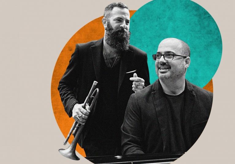 Jazz concert - Avishai Cohen & Yonathan Avishai - Playing the room tour